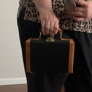 Vintage Mini Suitcase Handbag